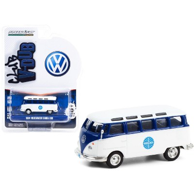 "1964 Volkswagen Samba Bus ""Pan Am Airways"" Blue and White ""Club Vee V-Dub"" Series 12 1/64 Diecast Model by Greenlight"