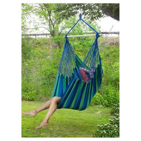 Sorbus Brazilian Hammock Chair Swing For Indoor Or Outdoor Es Blue Multi Target