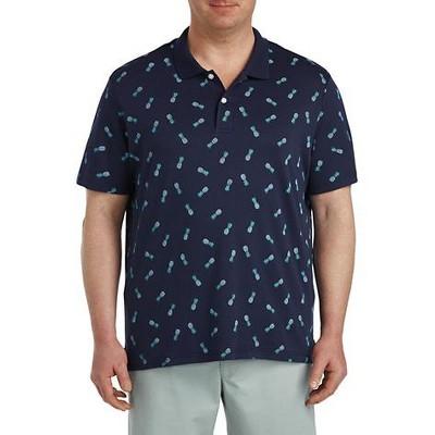 Harbor Bay Pineapple Print Polo Shirt - Men's Big and Tall