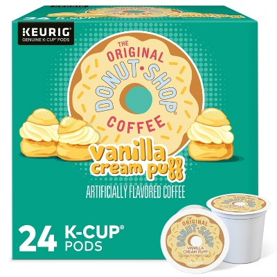 24ct The Original Donut Shop Vanilla Cream Puff Keurig K-Cup Coffee Pods Flavored Coffee Medium Roast