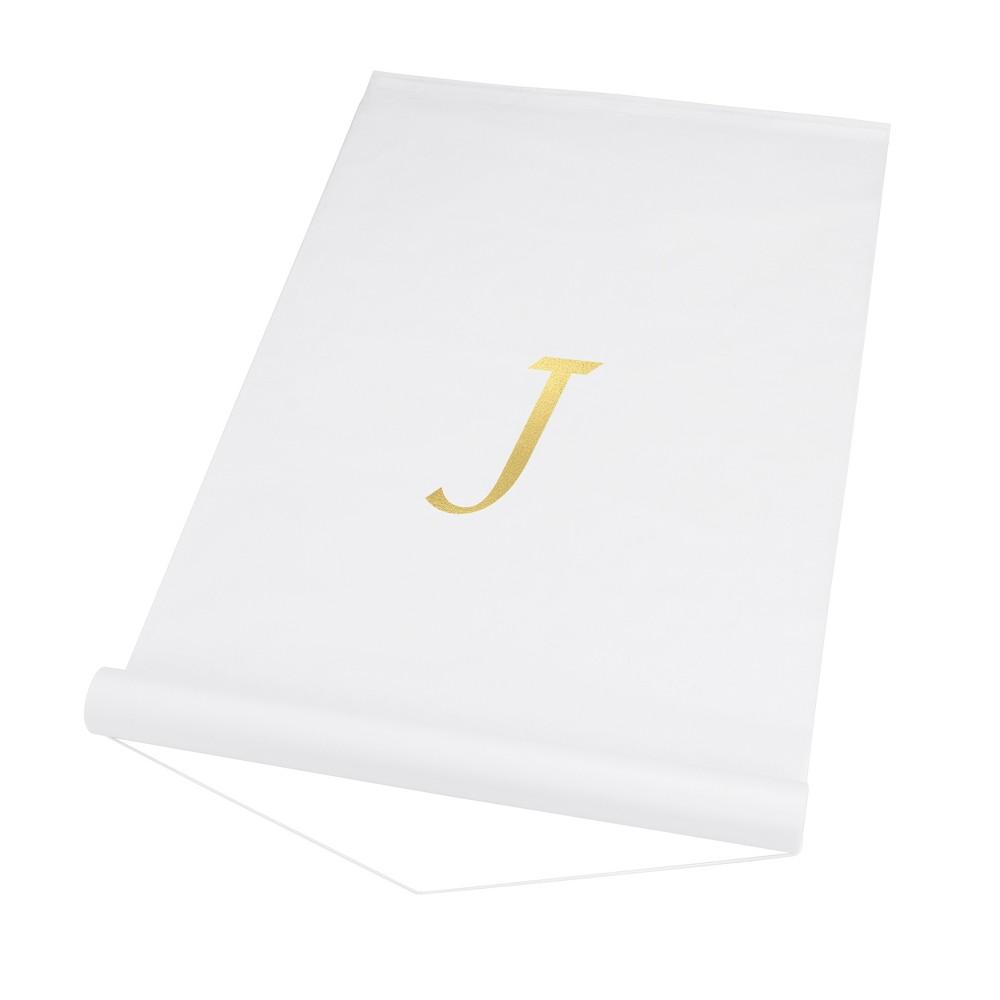 34 J 34 Personalized Wedding Aisle Runner White