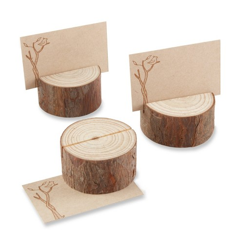 12ct Rustic Real-Wood Place Card/Photo Holder - image 1 of 4