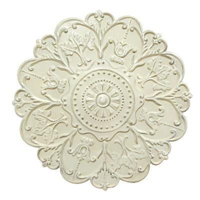 Shabby White Medallion Wall Decor - Stratton Home Decor
