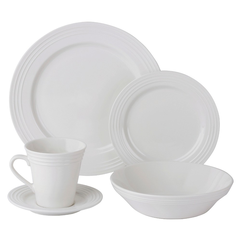 Image of 10 Strawberry Street Atlas 20pc Dinnerware Set White