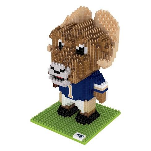 NFL Los Angeles Rams BRXLZ Mascot Figure 1000pc - image 1 of 1