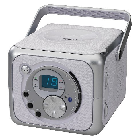 Jensen Portable Bluetooth Receiver Music System with CD Player - Silver (CD-555A) - image 1 of 4