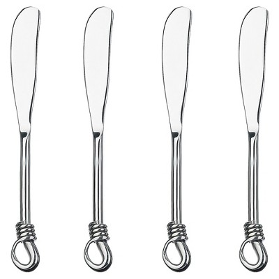 Gourmet Silverware Settings Twist 4pc Spreader Silverware Set