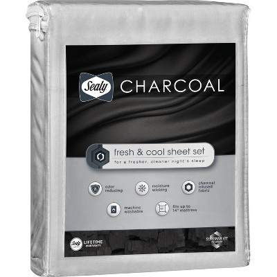 King Charcoal Infused Sheet Set Gray - Sealy