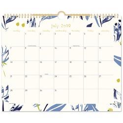 2019-2020 Water Lillies Academic Wall Calendar Blue/Cream - Lillian Farag