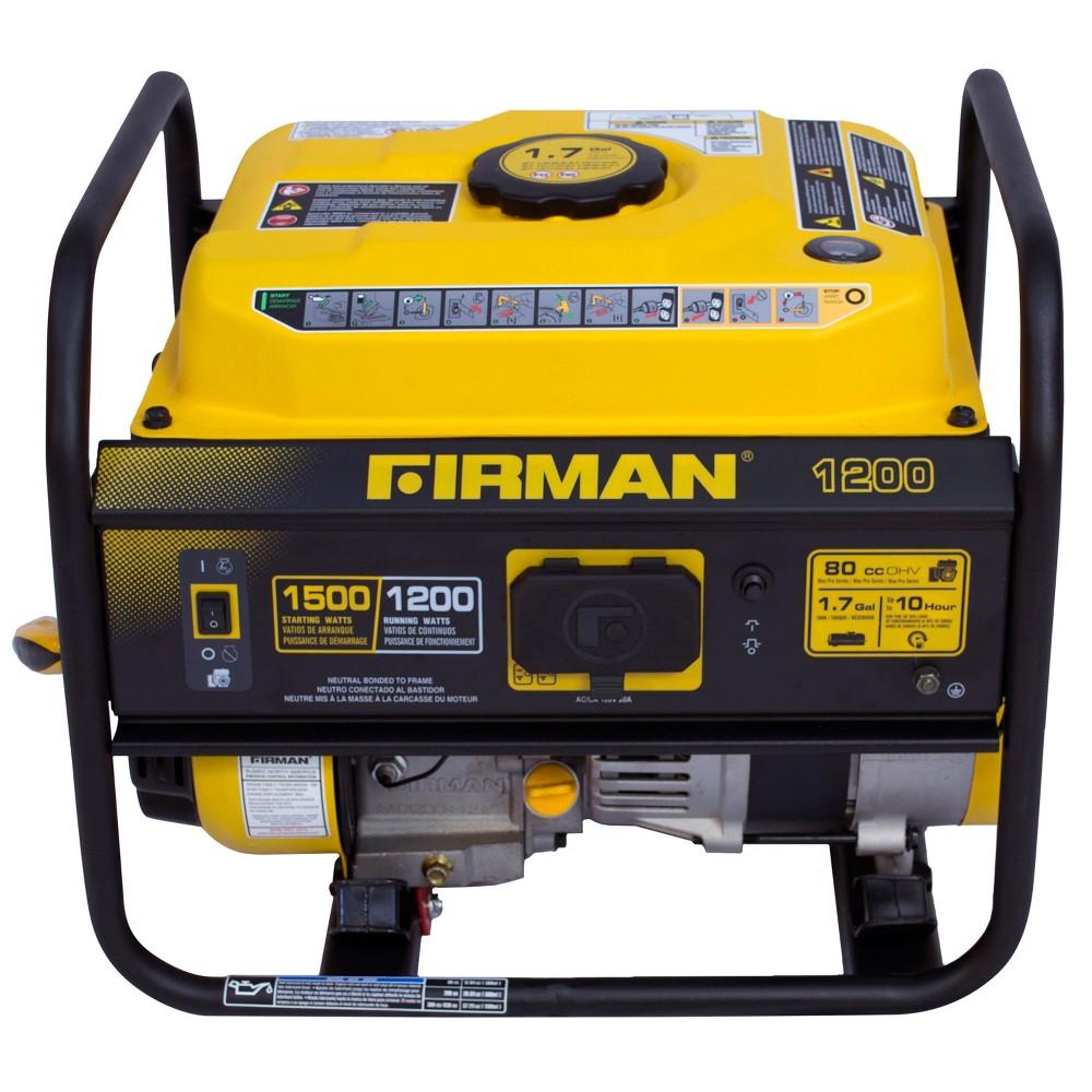 1200/1500 Watt Gas Powered Portable Generator - Firman Power