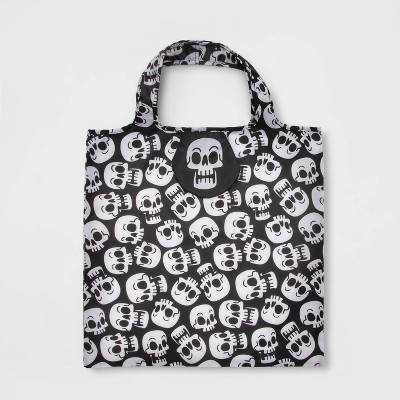 Reusable Bag with Pouch Skull Halloween Trick or Treat Container - Hyde & EEK! Boutique™