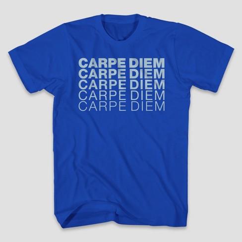 Men's Carpe Diem Short Sleeve Graphic T-Shirt - Royal - image 1 of 1