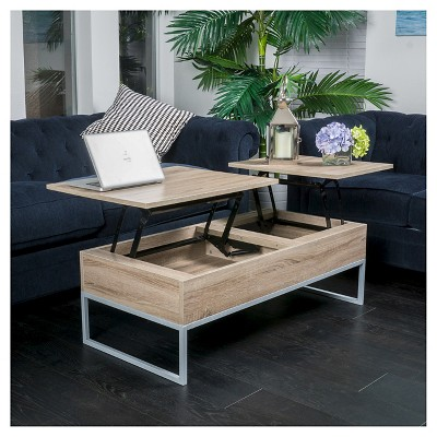 Lift Functional Coffee Table Sonoma Tan   Christopher Knight Home : Target