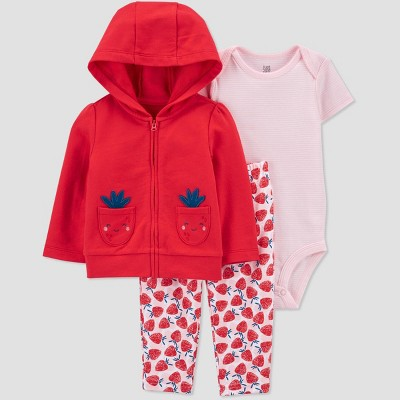 Baby Girls' Strawberry Top & Bottom Set - Just One You® made by carter's Red