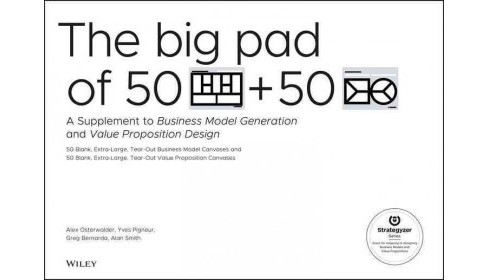 Big Pad of 50 Blank Extra Large Business Model Canvases and 50 Blank, Extra Large Value Proposition - image 1 of 1