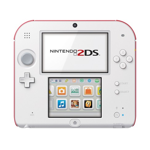 nintendo 2ds scarlet red with new super mario bros 2game pre