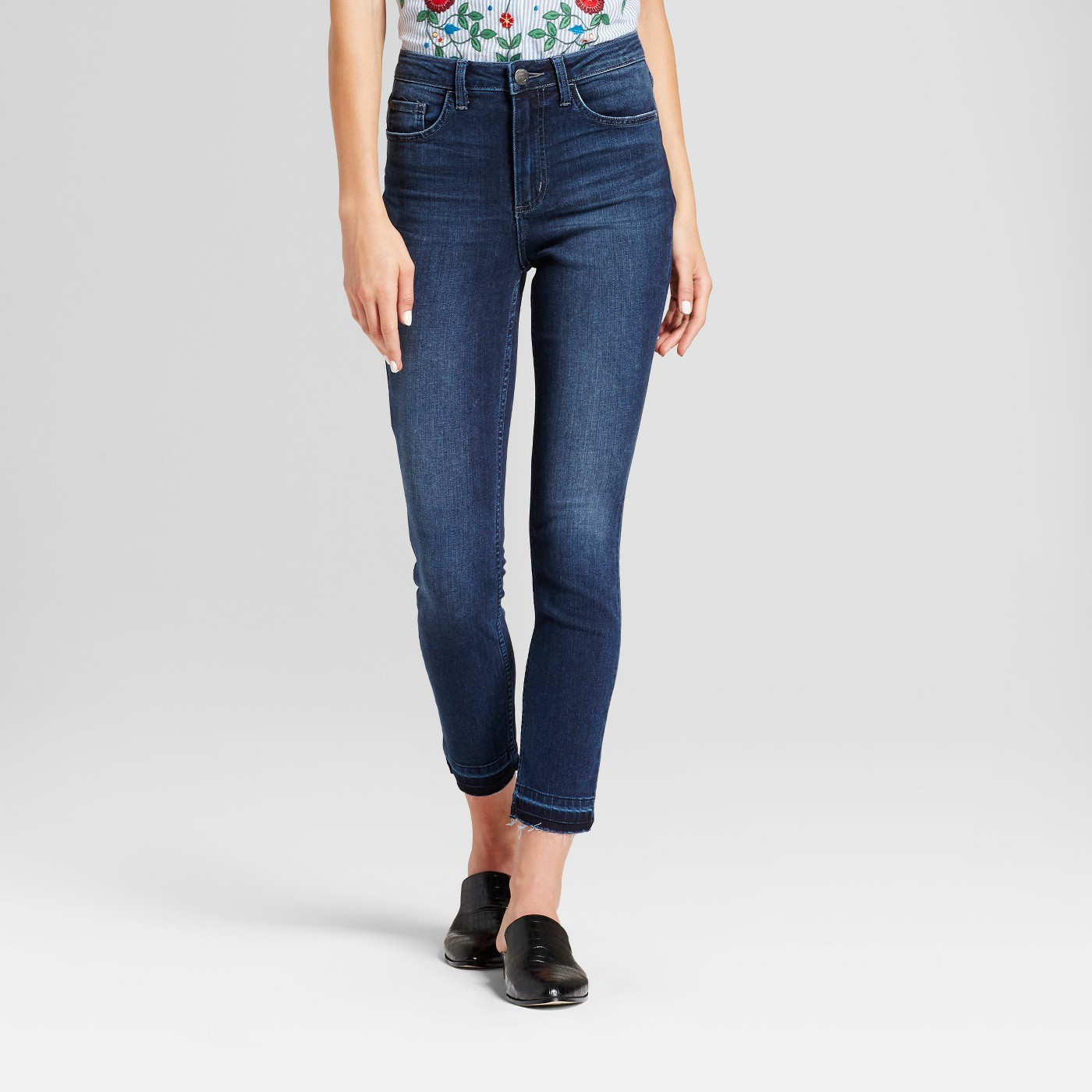 Women's Modern Fit High Rise Released Hem Skinny Jeans - Crafted by Lee® - image 1 of 5