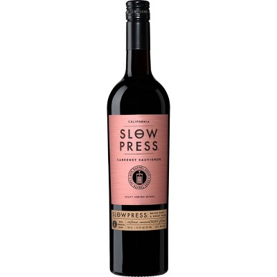 Slow Press Cabernet Sauvignon Red Wine - 750ml Bottle