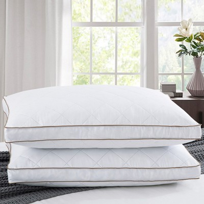 Puredown Quilted Down Feather Bed Pillow