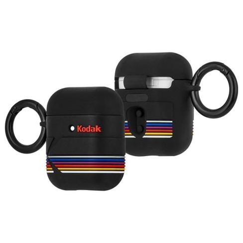 Case-Mate Airpods Case - Hook Ups Kodak Matte Black + Shiny Black Logo