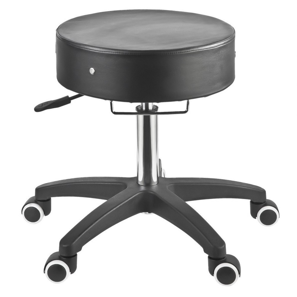 Image of Adjustable Rolling Pneumatic Stool for Massage Table ,Examination Table and office, Black