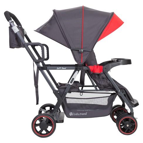 Baby Trend Sit N Stand Sport Stroller Dusk Red