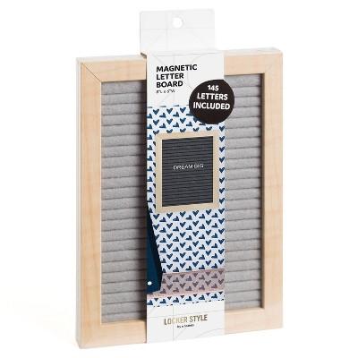 Locker Wood Letter Board Gray - U Brands
