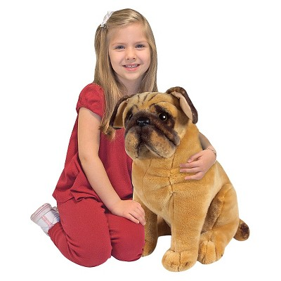 Realistic Pug Stuffed Animal, Melissa Doug Pug Dog Lifelike Stuffed Animal Target