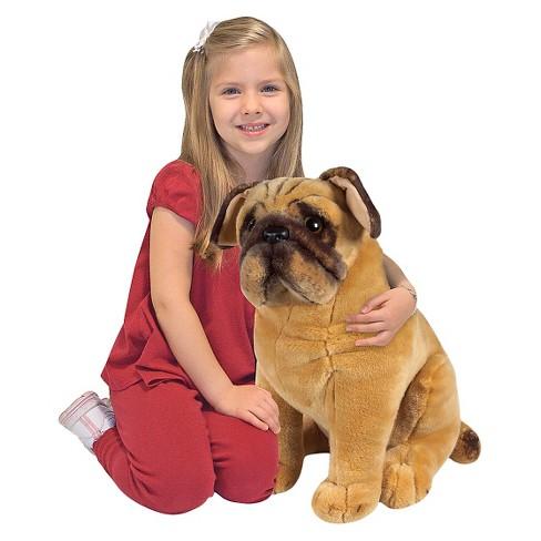 Melissa Doug Pug Dog Lifelike Stuffed Animal Target
