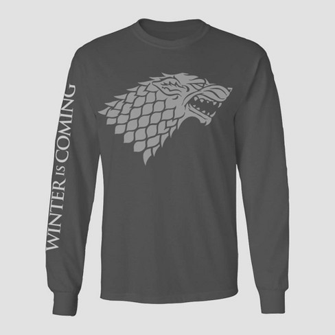 Men's Game of Thrones Winter is Coming Graphic T-Shirt - Charcoal Heather - image 1 of 1