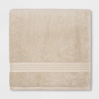 Spa Bath Sheet Light Taupe - Threshold Signature™
