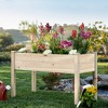 Best Choice Products Raised Garden Bed 48x24x30in Elevated Wood Planter Box Stand for Backyard, Patio - Natural - image 2 of 4
