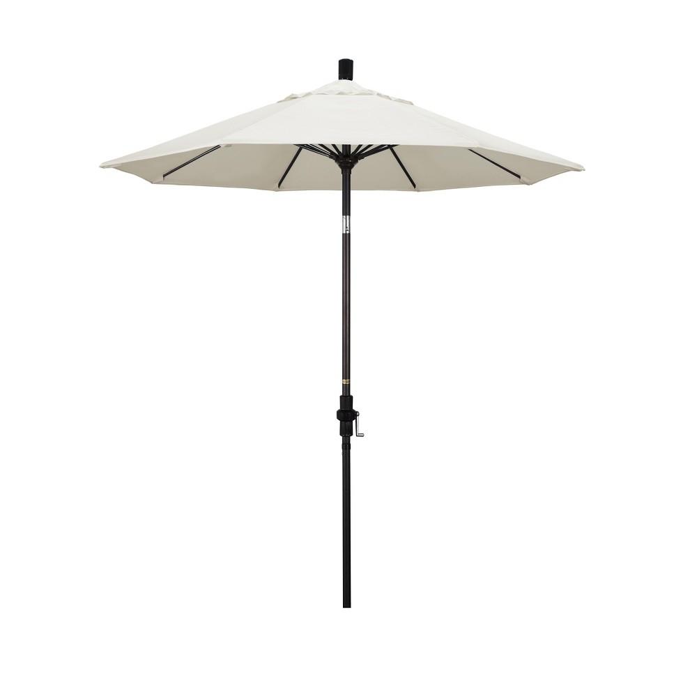 7.5' Aluminum Collar Tilt Crank Patio Umbrella - White Olefin