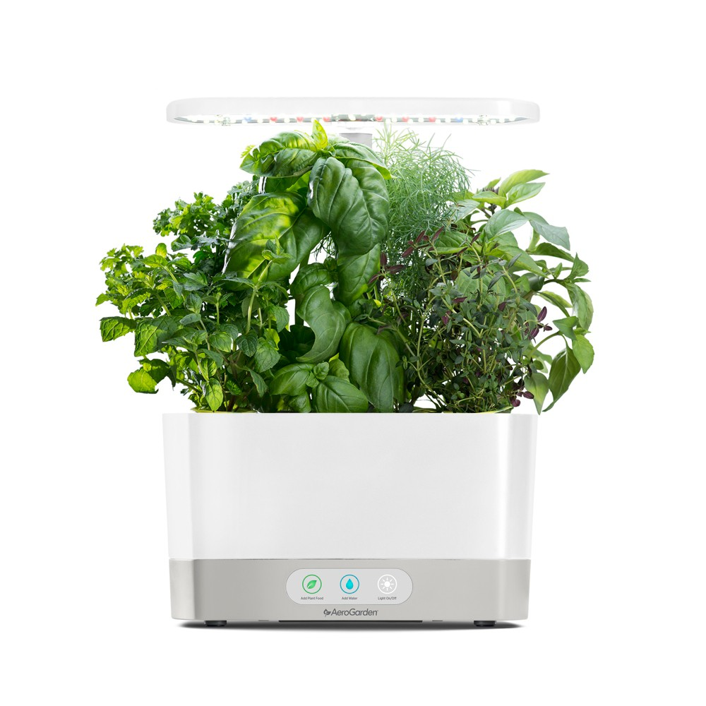 AeroGarden Harvest with Gourmet Herbs 6-Pod Seed Kit - White