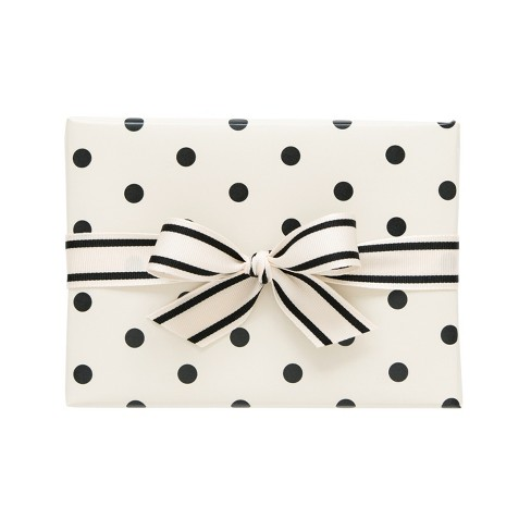 Cream with Black Large Polka Dot Gift Wrap, Single Roll - sugar paper™ - image 1 of 1