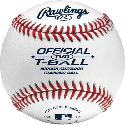 Rawlings 6U T Ball 2pk - White