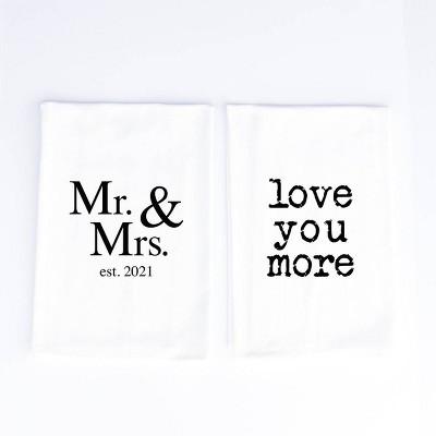 2pk Cotton Mr. and Mrs. Kitchen Towels - Wildwood Landing