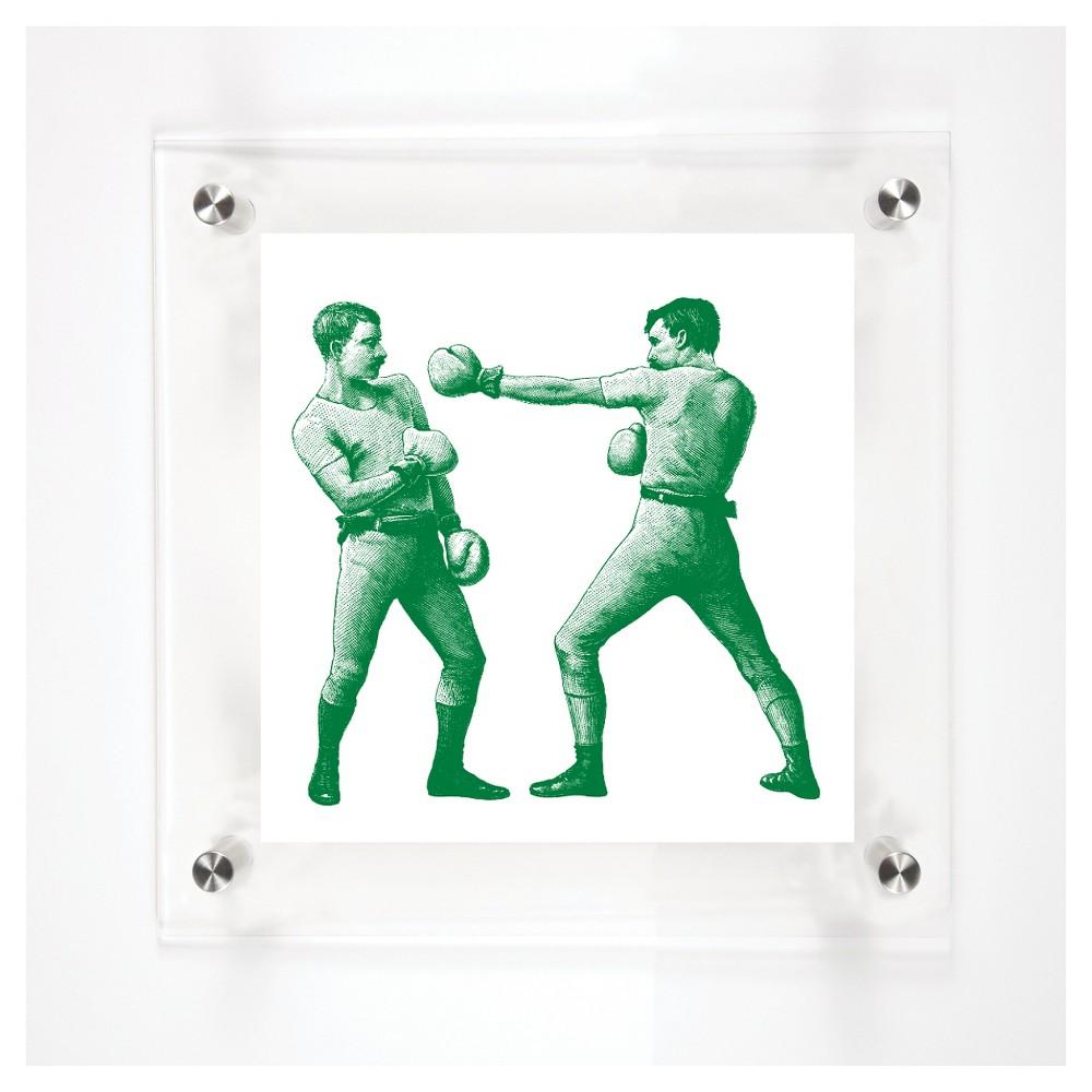 Mitchell Black Boxers Retreat Decorative Framed Wall Canvas Grass (12