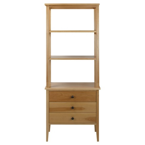 "62"" Bookcase with Drawers with Solid American Maple - Flora Home - image 1 of 6"
