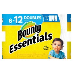 Bounty Essentials Select-A-Size White Paper Towels - 6 Double Rolls