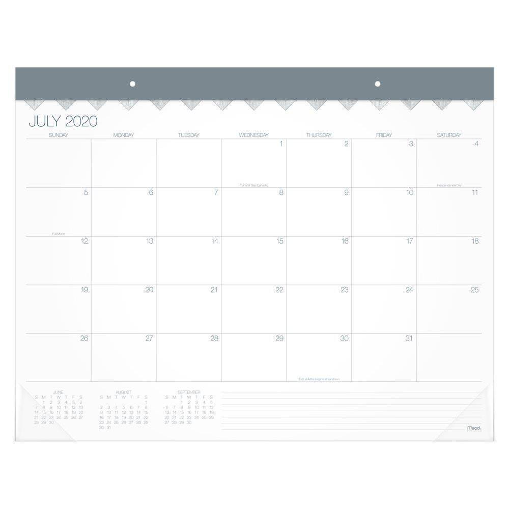 "Image of ""2020-21 Academic Desktop Calendar White 21.75"""" x 17"""" - Mead"""