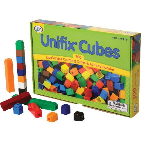 Didax Interlocking Counting Unifix Cubes with Activity Booklet, 300 pc - image 1 of 3
