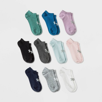 Women's Lightweight 10pk No Show Athletic Socks - All in Motion™ 4-10