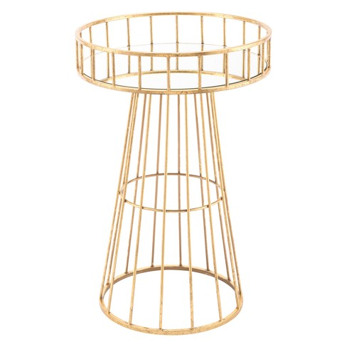 "16"" Round Metal Accent Table - Gold - ZM Home - image 1 of 2"