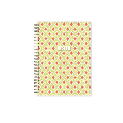 """2021 Planner Notes Clear Pocket Cover 5.875"""" x 8.625"""" Weekly/Monthly Wirebound - Lantern - Dabney Lee"""