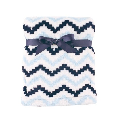 Hudson Baby Unisex Baby Super Plush Blanket - Chevron One Size