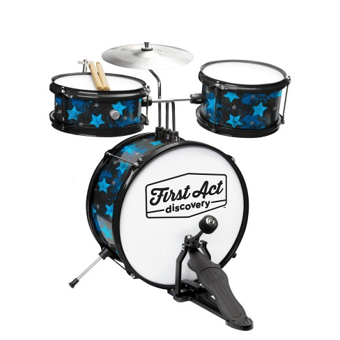 First Act Discovery - Drum Set & Seat - Blue Rock Stars - image 1 of 1