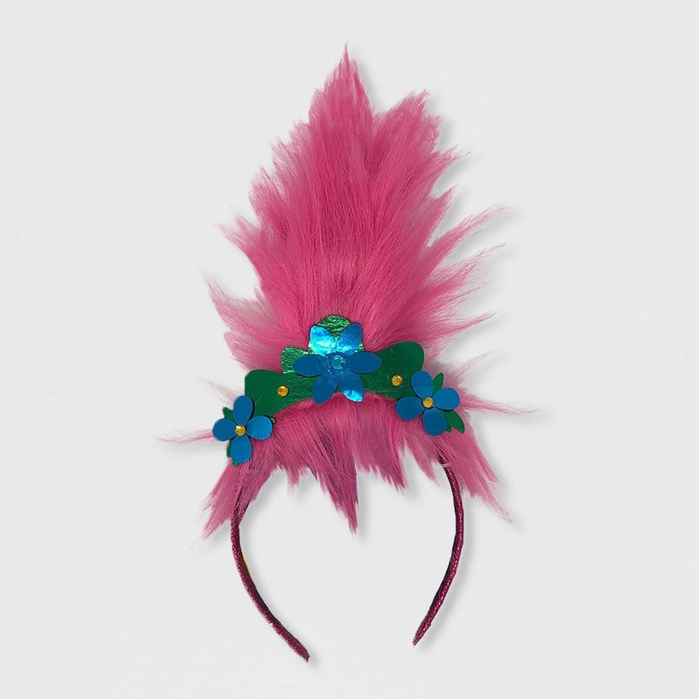 Image of Girls' Trolls Poppy Faux Hair Headband - Pink