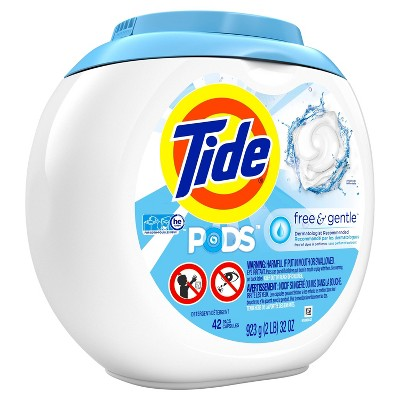 Tide PODS Laundry Detergent Pacs Free & Gentle - 42ct