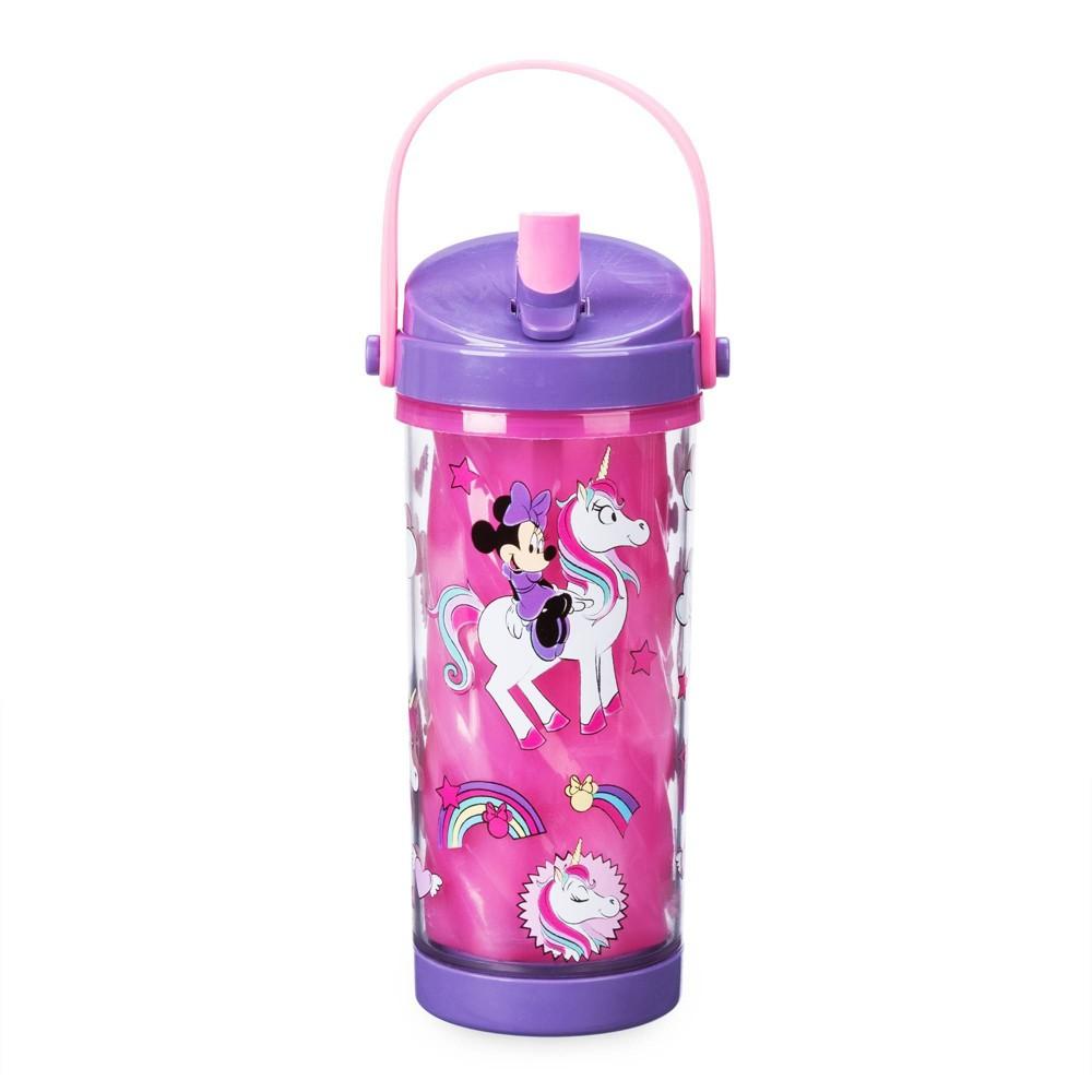 Image of Disney Minnie 10.8oz Plastic Color Change Water Bottle - Disney Store